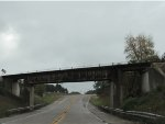 Old Green Bay Western Railroad Bridge leads east to switch spur for Frontier-Servco FS